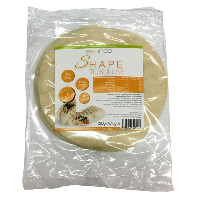 Shape Lowcarb Tortilla Wraps - 280 gramm